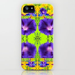 GOLDEN DAFFODILS MORNING GLORIES REFLECTION iPhone Case