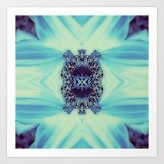 Diamond heart kaleidoscope Art Print