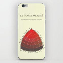 Le Rouge-Orangé (ses diverses nuances combinées avec le noir) Remake iPhone Skin