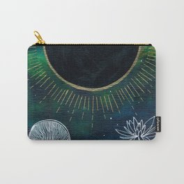 New Moon Original Mixed Media Painting Carry-All Pouch