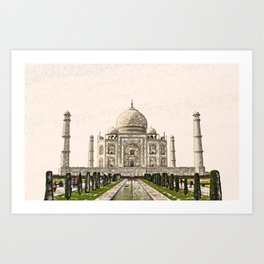 ArtWork Taj Mahal India Paint Painting Art Print