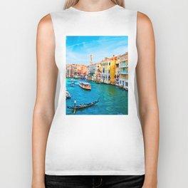 Italy. Venice lazy day Biker Tank