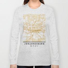 JOHANNESBURG SOUTH AFRICA CITY STREET MAP ART Long Sleeve T-shirt