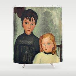 "Amedeo Modigliani ""Les deux filles"" Shower Curtain"