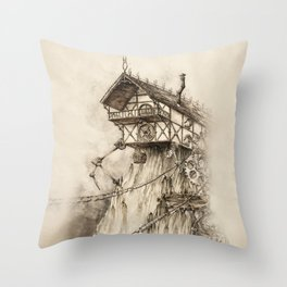 Steampunk House Throw Pillow