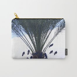 Palm Tree Birds Upshot Framed By Mountain Fog Carry-All Pouch