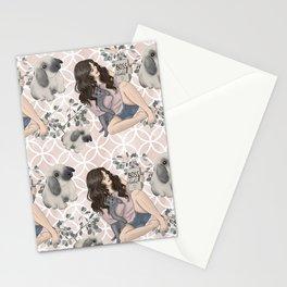 Hygge Girl Pattern Stationery Cards