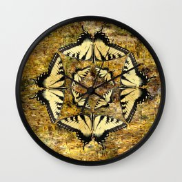 Butterfly Octagon Wall Clock