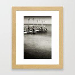 Antique Iron Dock - Nice, France Framed Art Print