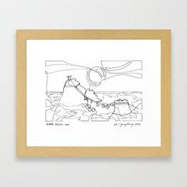 夫婦岩 Meoto-iwa Framed Art Print