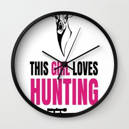 Hunting With My Husband Wall Clock