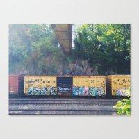 grafitti Canvas Prints featuring grafitti  by Mallory Powers