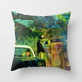 A Nightly Pull Over:The Casual Affair Throw Pillow