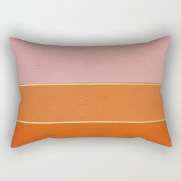 Orange, Pink And Gold Abstract Painting Rectangular Pillow