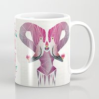 flamingo Mugs featuring flamingo by Manoou