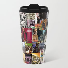 Classic Rock And Roll Albums Collage Travel Mug