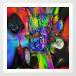 Melting Into.. Art Print