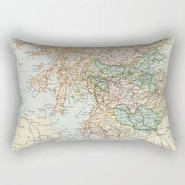 South Scotland Vintage Map Rectangular Pillow