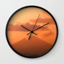 Mount Fuji at Sunset from Chigasaki Wall Clock