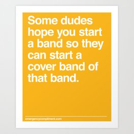 Cover Band Art Print