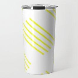 highlighter yellow stripes lasoffittadiste Travel Mug