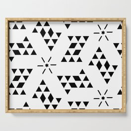 Triangle slide Pattern Serving Tray