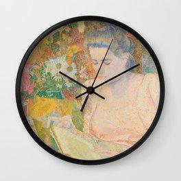 Portrait of Mrs. Marie Jeannette de Lange - Jan Toorop (1900) Wall Clock