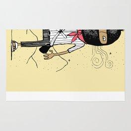 Zapatist soldier illustration Rug