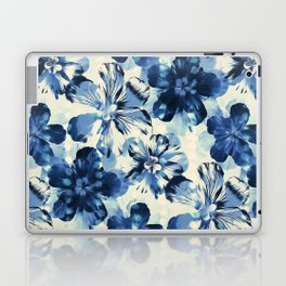 Shibori Inspired Oversized Indigo Floral Laptop & iPad Skin