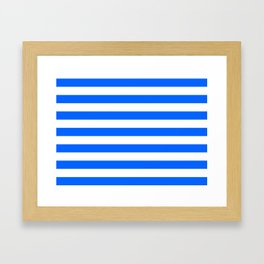 China Blue and White Medium Stripes Framed Art Print