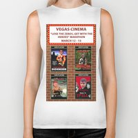 cinema Biker Tanks featuring VEGAS CINEMA!!! by Party Dragon