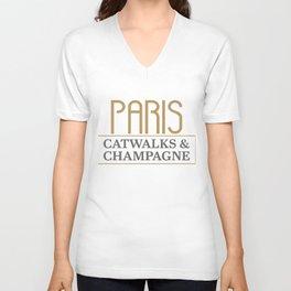 Paris, Fashion Catwalk & Champagne Unisex V-Neck