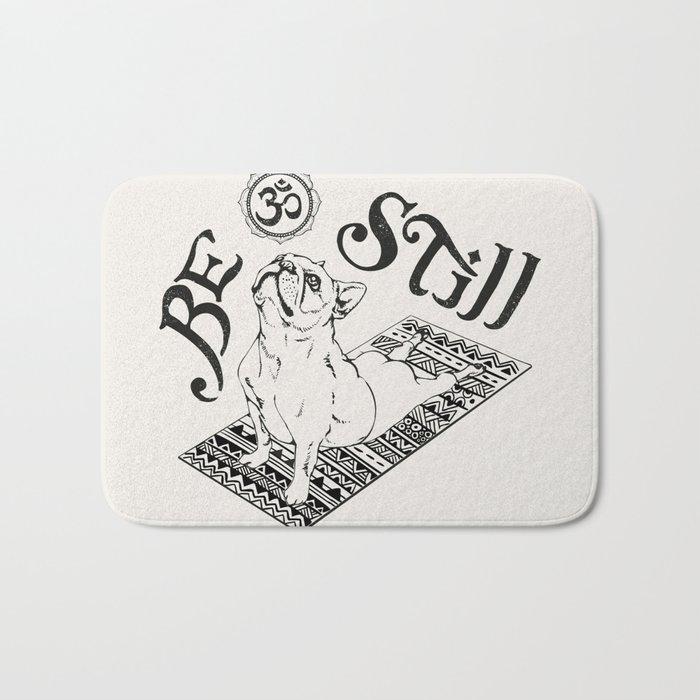 Be Still French Bulldog Bath Mat