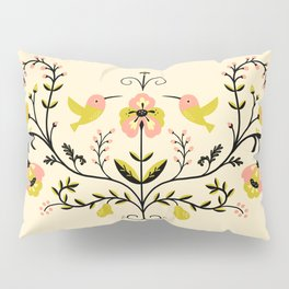 Hummingbirds and Pears Pillow Sham