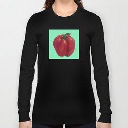Red Bell Pepper pattern Long Sleeve T-shirt