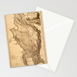 Map Of South Africa 1795 Stationery Cards