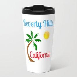 Beverly Hills California Palm Tree and Sun Travel Mug