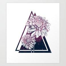 Dahlias Forever Art Print