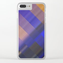 Sea sunset. Abstract gradient art geometric background with soft color tone, cell grid. Ideal for ar Clear iPhone Case