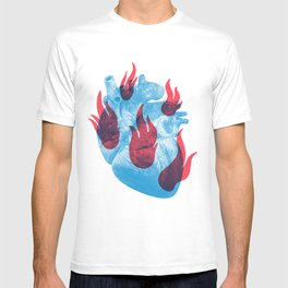 Heart in flames T-shirt