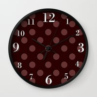 polka Wall Clocks featuring Polka by Taylor Steiner