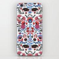 folk iPhone & iPod Skins featuring The Pug of Folk  by Huebucket