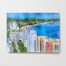 The Beauty of Long Beach from Above Metal Print