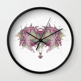 Inkdala III (Rorschach) Wall Clock
