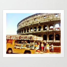 Roman food truck. Art Print