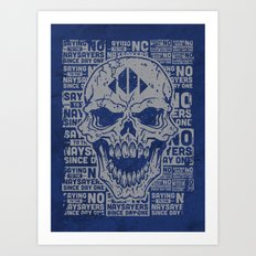 Naysayer Skull Art Print