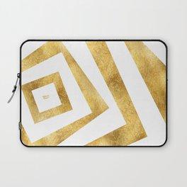 ART DECO VERTIGO WHITE AND GOLD #minimal #art #design #kirovair #buyart #decor #home Laptop Sleeve