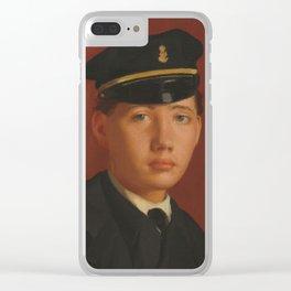 Achille De Gas in the Uniform of a Cadet Clear iPhone Case