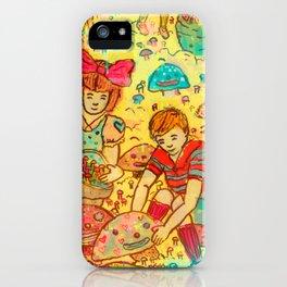 Pink Cloudy Mushroom iPhone Case