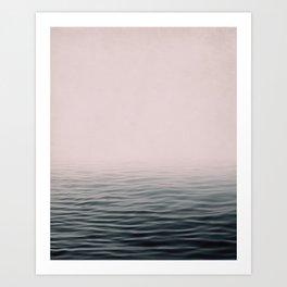 Misty sea Art Print
